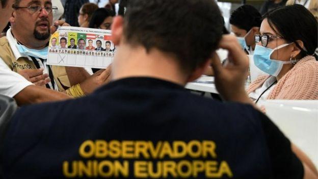 Observador del escrutinio en Honduras.