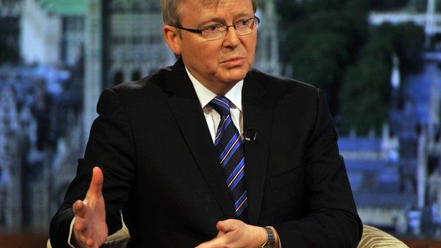 Kevin Rudd, former Prime Minister of Australia and current Foreign Minister, appearing on the Andrew Marr Show