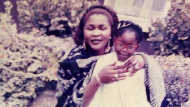 Gina Atinuke Knight with her birth mum
