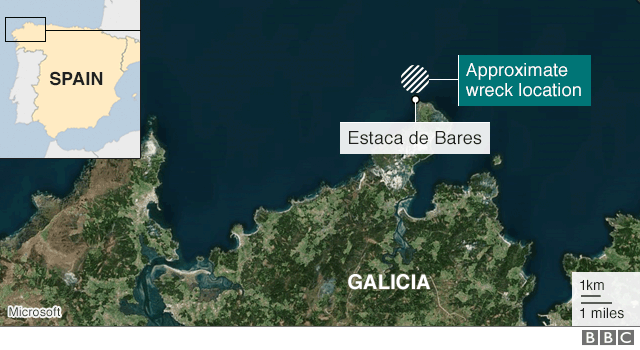German ww2 u boat wreckage found off galicia by spanish divers bbc galicia map gumiabroncs Images