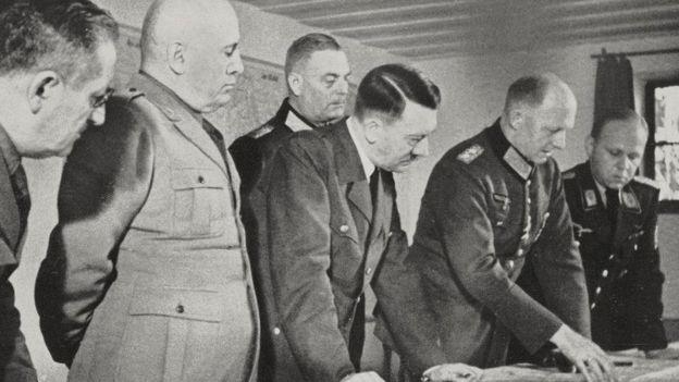 Hitler com Mussolini na Toca do Lobo