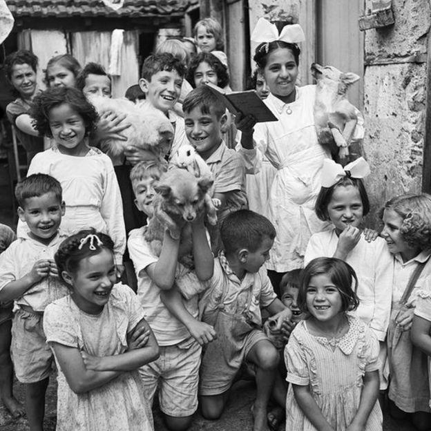 Crianças no bairro do Brás, São Paulo, 1947