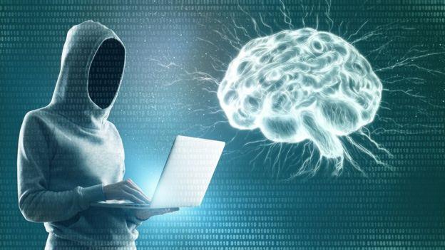 ilustração de alguém hackeando um cérebro