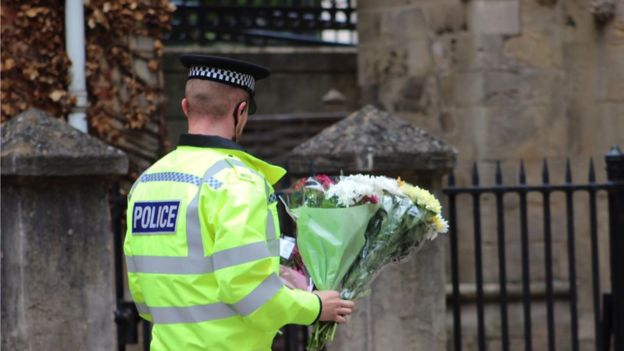 Police officer at the scene
