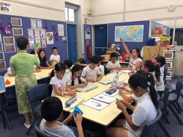 Một lớp học của Trường Việt ngữ Inner West