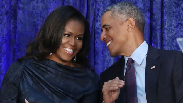 Barack et Michelle Obama.