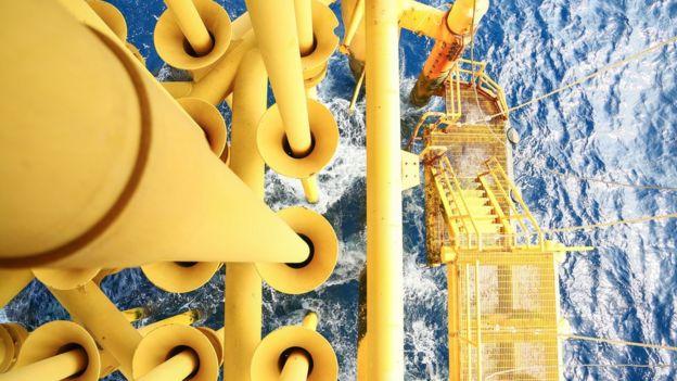 Base marítima de petróleo.