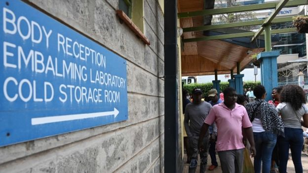 В Найроби продолжается опознание погибших при нападении