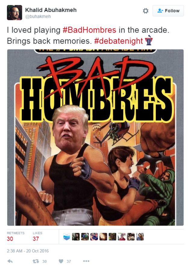 _91993420_badhombres3 presidential debate trump's 'bad hombres' quip inspires mucho