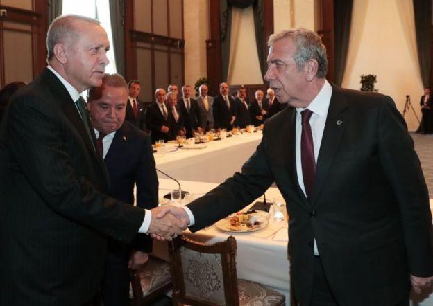 Erdoğan ve Ankara Büyükşehir Belediye Başkanı Mansur Yavaş
