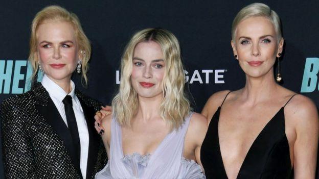 Las actrices Nicole Kidman, Margot Robbie y Charlize Theron