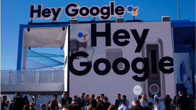 Google booth at CES 2018