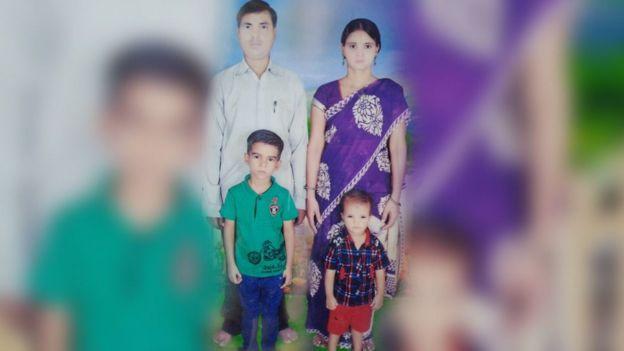 Rajan Yadav, his wife Sanju and their two children