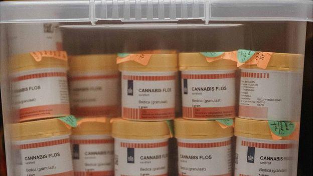 tubs of cannabis flos