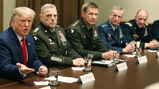 Трамп и военное руководство США