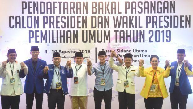 Prabowo dan tim partai pendukung