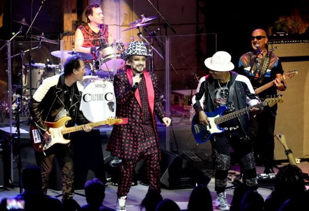 Culture Club play live in 2018