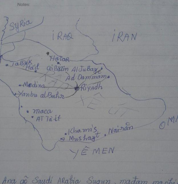 Bản đồ chị Đào vẽ