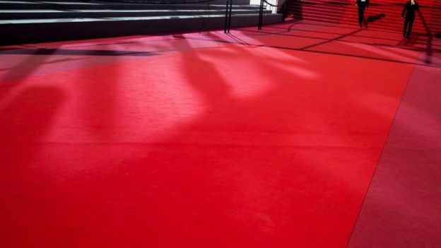 A view of the red carpet in Cannes