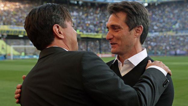 Marcelo Gallardo y Guillermo Barros Schelotto.