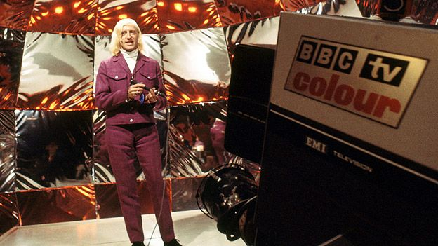 Jimmy Savile on Top of the Pops in 1969