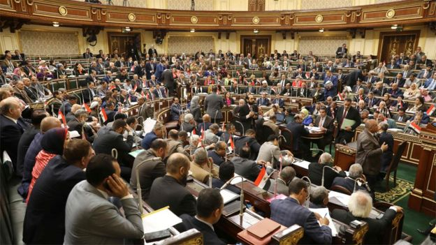 Egyptian parliament session 16 April 2019