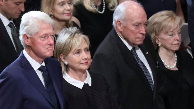 Билл Клинтон, Хилари Клинтон, Дик Чейни его жена Линн