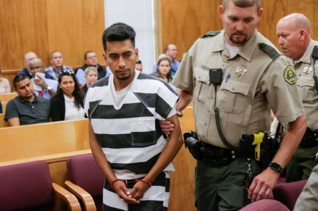 The suspect appears in court