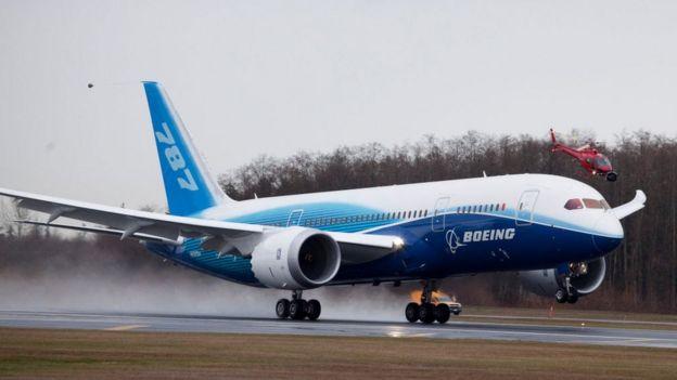 Un avión de pruebas Boeing 787 Dreamliner en 2009
