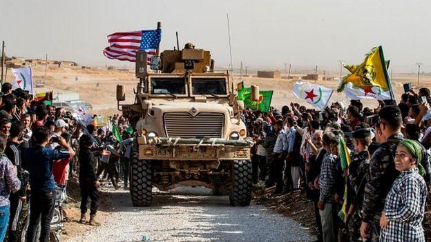 ABD askeri YPG bölgesinde