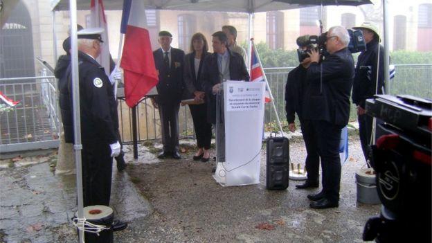 Fort de la Revere memorial service