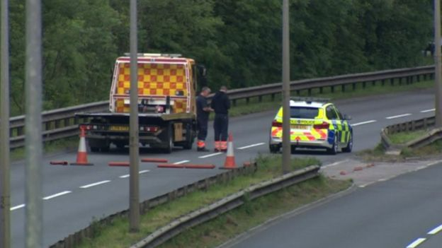 One dead after crash closes Cardiff A4232 dual carriageway