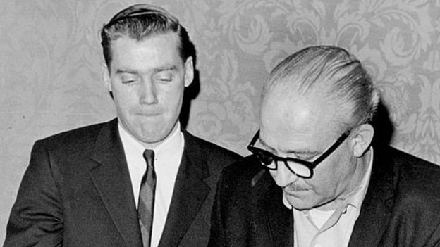 Fred Jr. (izquierda) en 1966.