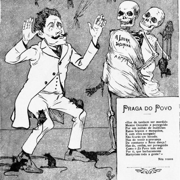 Charge contra Oswaldo Cruz