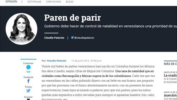 Coluna da jornalista Clauda Palacio