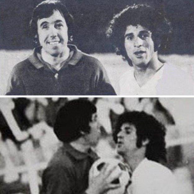 گورودن بنکس و مسعود مژدهی، در حین بازی و پس از بازی