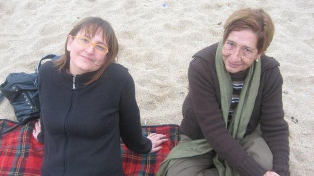 Paula Sáenz con su madre (Crédito: Paula Sáenz)