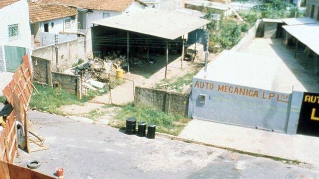 Vista de la chatarrería donde estuvo el material radioactivo.