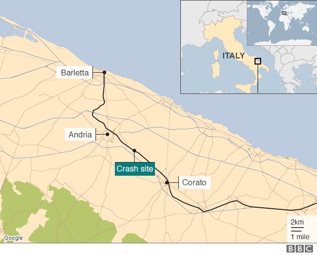 Italy Train Crash Twenty Three Killed Near Bari In Collision