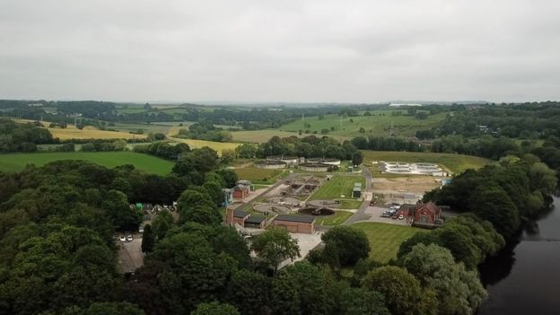 Northumbrian Water sewage-treatment works in Durham
