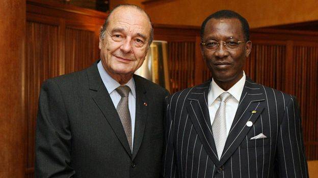 L'ancien président français Jacques Chirac et le président du Tchad, Idriss Deby Itno (Ph. archives - Cannes 2007)