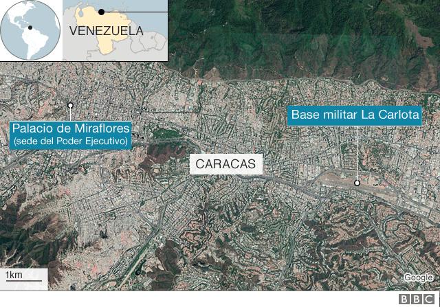Mapa Caracas