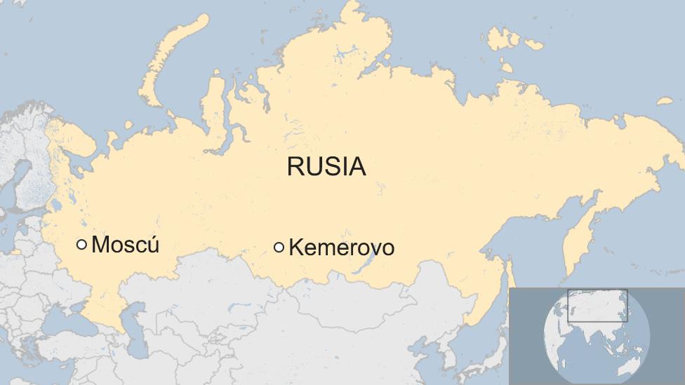 Mapa Rusia, Kemerovo