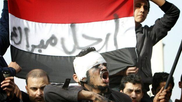 متظاهرون ضد مبارك