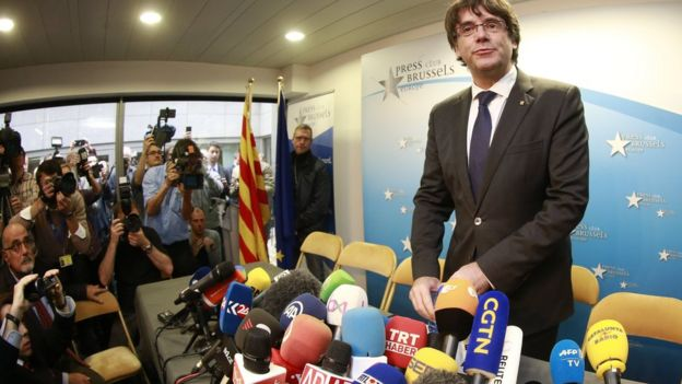 Carles Puigdemont en Bruselas