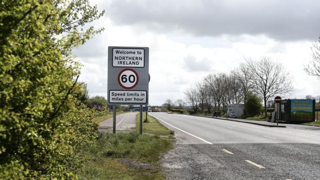 A Northern Ireland border sign