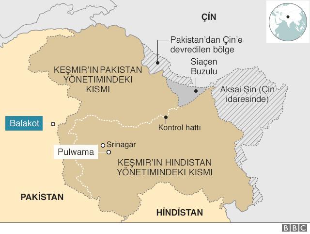 Hindistan ve Pakistan haritasi