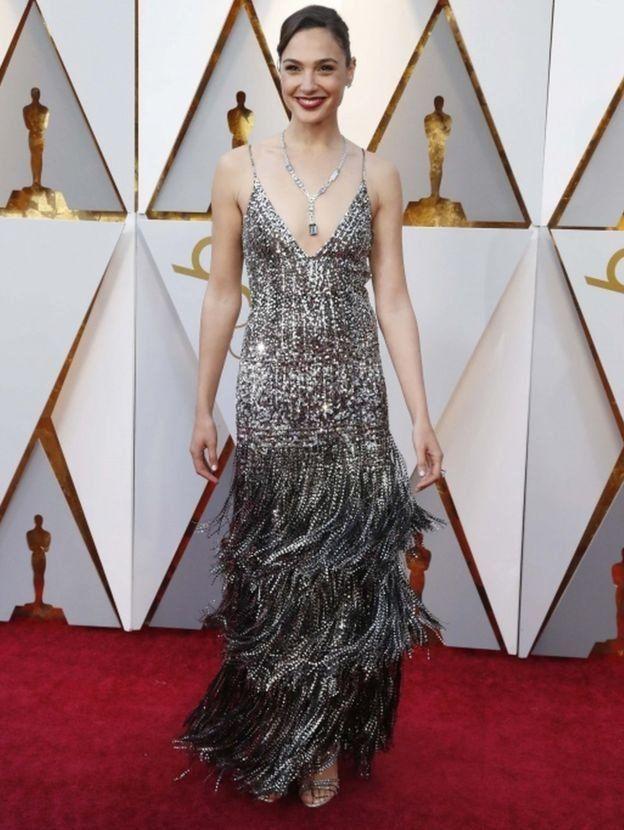 Gal Gadot en los Oscar de 2018.