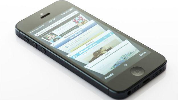 Páginas da internet em smartphone