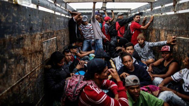 Migrantes venezolanos en Perú.